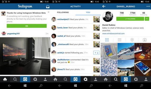 Instagram Sudah Tersedia Untuk Windows 10 Mobile