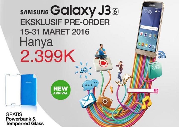 Pre-Order Samsung Galaxy J3 2016 (J36) Dibuka di Lazada