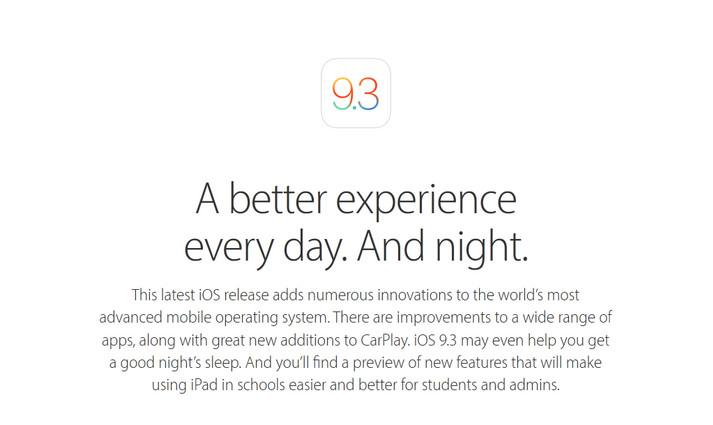 iOS 9.3 Dirilis, Mulai Bergulir Hari Ini