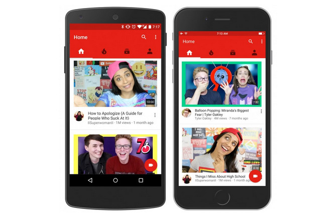 Antarmuka Aplikasi Youtube Diperbarui