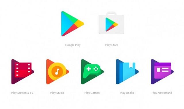 Google Rombak Ikon Google Play