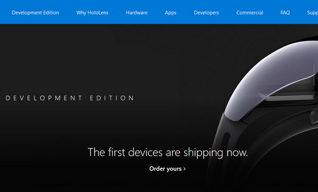 Microsoft Mulai Kirimkan HoloLens Development Edition