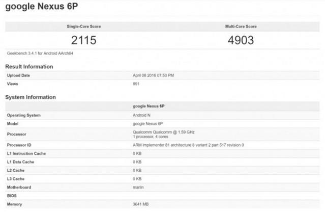 Penerus Nexus 6P Dibekali Snapdragon 820 dan RAM 4GB