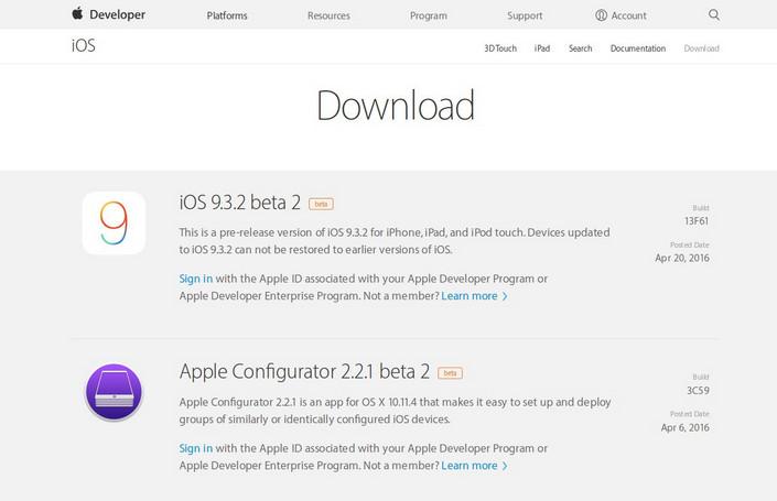 iOS 9.3.2 Beta 2 Dirilis Untuk Developer