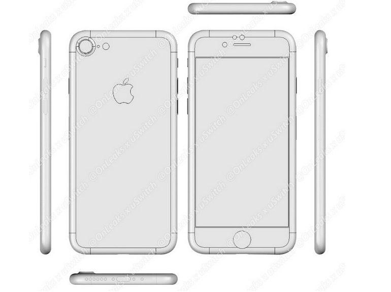 Munculnya Desain CAD iPhone 7 & 7 Plus