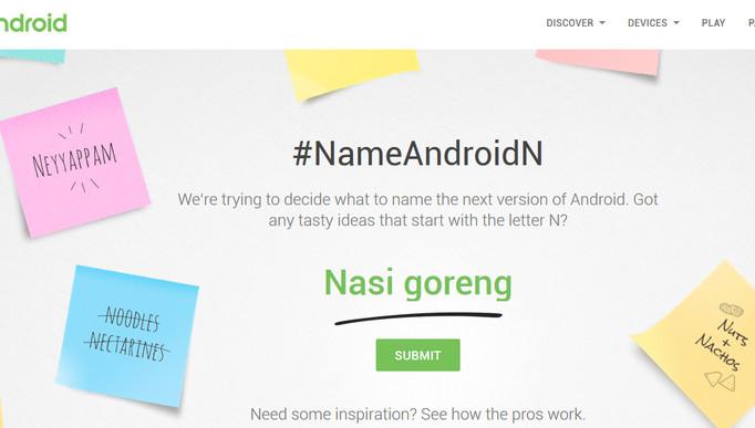 Neyyappam Jadi Kandidat Terkuat Nama Resmi Android N