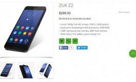 Baru Diluncurkan, ZUK Z2 Sudah Mulai Dijual
