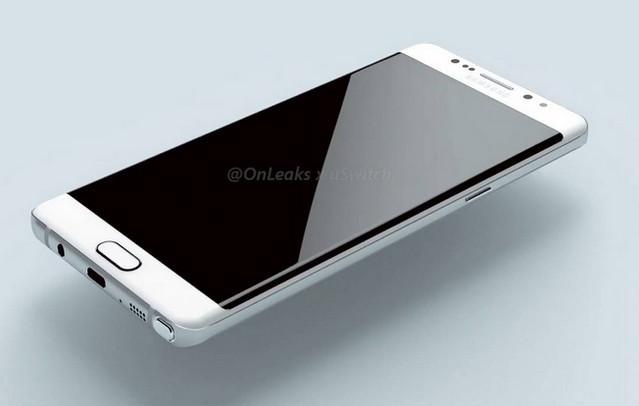 Ini Render 3D Samsung Galaxy Note 6 Dengan Layar Lengkung
