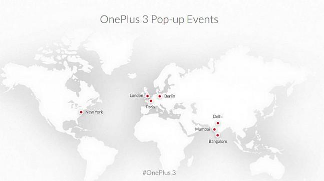 OnePlus 3 akan Dijual di Toko Pop-up di Kota Terpilih Diseluruh Dunia