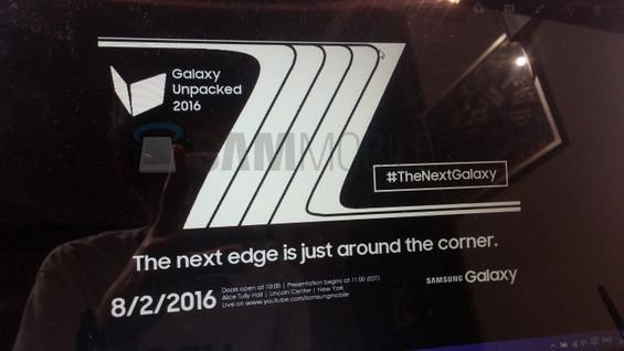 Samsung Galaxy Note 7 Edge Dirilis 2 Agustus 2016