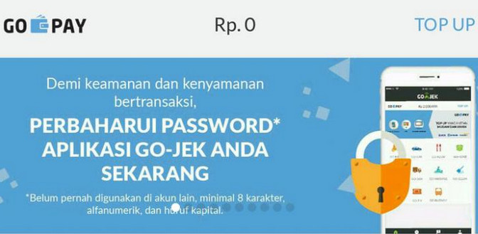 Go-Jek Diduga Diretas, Pelanggan Diminta Ganti Password