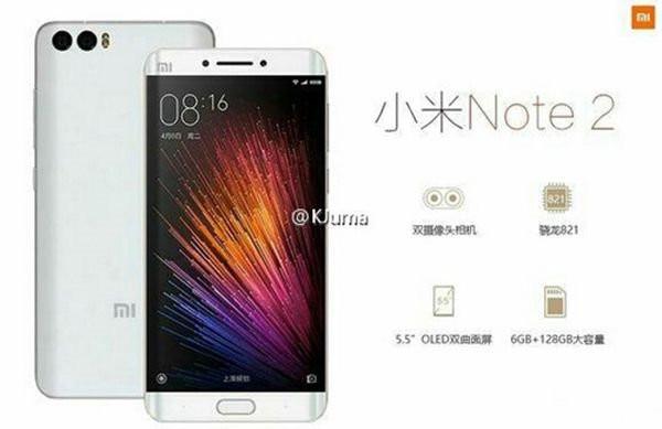 'Wajah' Terekspos, Spesifikasi Xiaomi Mi Note 2 pun Terungkap