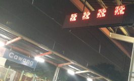 Aksara China di Stasiun Cawang Hebohkan Netizen
