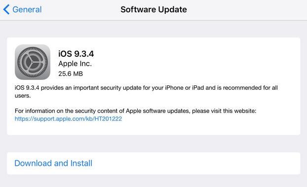 Kelebihan iOS 9.3.4