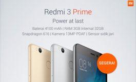 Xiaomi Redmi 3 Prime (Pro) Garansi Resmi Segera Diluncurkan di Indonesia