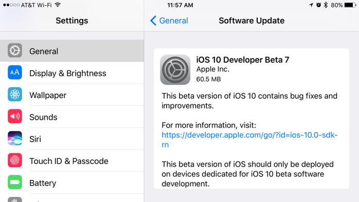 iOS 10 Beta 7 Dirilis untuk Developer, Beta 6 untuk Umum