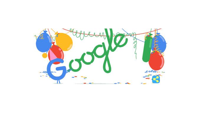 Google Birthday! Selamat Ulang Tahun ke-18, Google