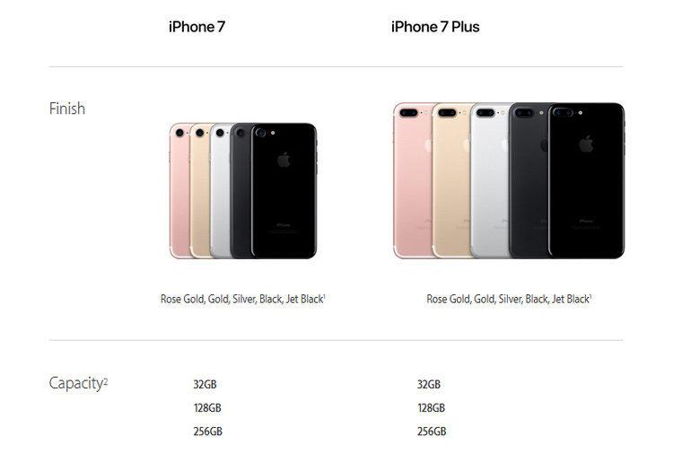 Berapa Maksimal Penyimpanan iPhone 7 & iPhone 7 Plus?