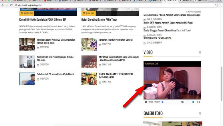 Video Porno Muncul di Videotron Jakarta Selatan dan Website DPRD Sidoarjo, Menkominfo Kecolongan