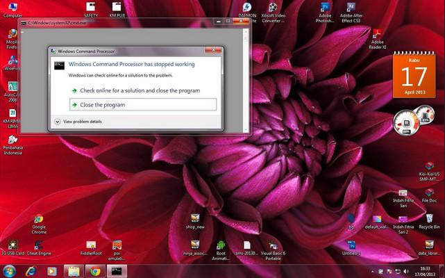 Cara Mengatasi Appcrash Pada Laptop  Komputer Windows 10 / 8 / 7