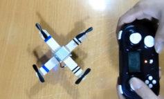 Cara Membuat Drone Quadcopter Sederhana dari Barang Bekas (Dinamo Tamiya, Stik Es Krim)