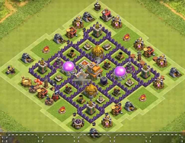 Pertahanan Base Coc Th 7 Terkuat 5