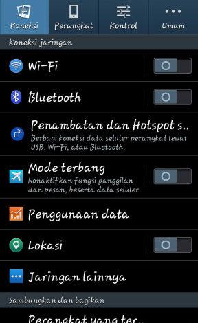Buka Settings > WiFi