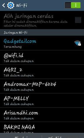 Pilih SSID WiFi