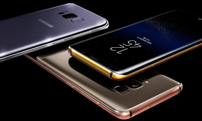 Tampak Mewah, Samsung Galaxy S8 & S8+ Berkelir Emas 24K