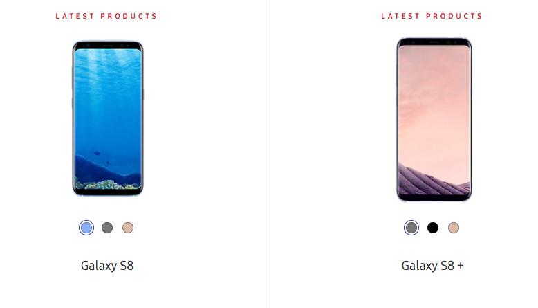 Samsung Galaxy S8 Kedapatan Warna Baru: Ice Lake Blue, Smoked Purple Grey dan Quicksand Gold
