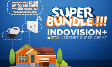 Paket TV Kabel dan Internet Indovision Super Bundle!! Indovision+ 4G LTE
