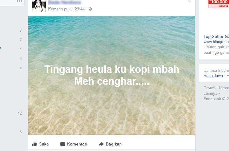 cara membuat status berlatar foto di Facebook