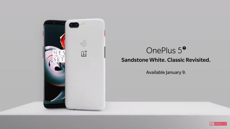 Resmi! OnePlus 5T Sandstone White Tampil Menawan dengan Tampilan Warna Putih